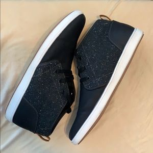 MENS STEVE MADDEN SIZE 13 BLACK LACE UP SNEAKERS